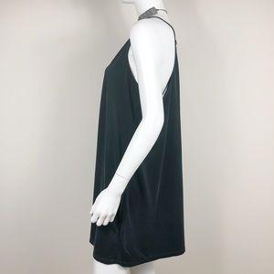 E1-8:Silence + Noise black v-neck sleeveless dress